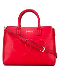 Love Moschino | Red Heart Tote | Lyst
