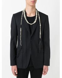 Ann Demeulemeester - White Feather Beaded Necklace - Lyst