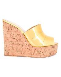 Giuseppe Zanotti | Metallic Wedge Sandals | Lyst