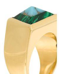 Fendi - Metallic Rainbow Pyramid Ring - Lyst