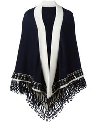 Antonia Zander | Blue Colour Block Large Scarf | Lyst