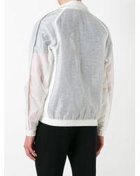 Cottweiler - White Semi-sheer Sleeves Bomber Jacket for Men - Lyst