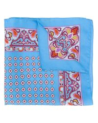 Etro | Blue Paisley Print Pocket Square for Men | Lyst