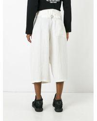Yohji Yamamoto - White Long Bermuda Shorts for Men - Lyst