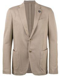 Lardini Natural Patch Pockets Blazer for men
