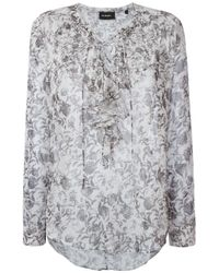 The Kooples - White Soft Baroque Blouse - Lyst