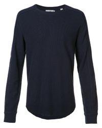 VINCE | Blue Crew Neck Sweatshirt for Men | Lyst