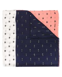 KENZO | White - Eyes Scarf - Women - Silk/modal - One Size | Lyst