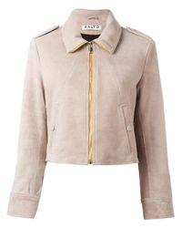 AALTO | Natural - Cropped Jacket - Women - Lamb Skin/rayon - 36 | Lyst