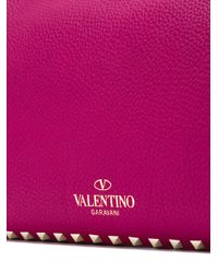 Valentino - Pink Garavani Rockstud Trapeze Tote - Lyst