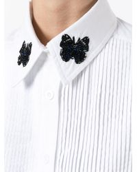 Markus Lupfer - White Embroidered-button Collar Shirt - Lyst