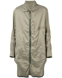 Ziggy Chen | Natural Zipped Coat for Men | Lyst