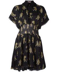 Giamba | Black Tiger Print Shirt Dress | Lyst