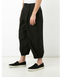 Yohji Yamamoto - Black Panel Pocket Pants for Men - Lyst