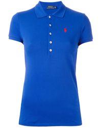 Polo Ralph Lauren   Blue Logo Polo Shirt   Lyst