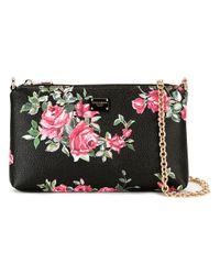 Dolce & Gabbana | Pink Mini Rose Print Shoulder Bag | Lyst