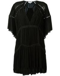 IRO - Black V-neck Batwing Dress - Lyst