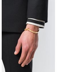 Versace - Metallic Greek Key Bracelet for Men - Lyst