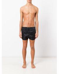 Neil Barrett - Black Tonal Print Swim Shorts for Men - Lyst