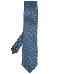 Tom Ford - Blue - Tonal Herringbone Tie - Men - Silk - One Size for Men - Lyst