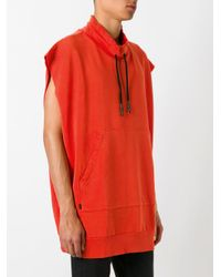 Vivienne Westwood Anglomania - Red Sleeveless Sweatshirt for Men - Lyst