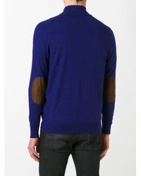 N.Peal Cashmere - Blue Zip Up Cardigan for Men - Lyst