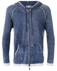 N.Peal Cashmere | Blue - Printed Long Sleeve Hoodie - Men - Silk/cashmere - S for Men | Lyst