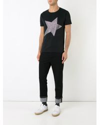 Education From Youngmachines | Black Studded Star T-shirt for Men | Lyst