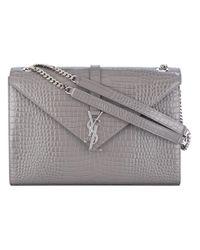 Saint Laurent   Gray Envelope Shoulder Bag   Lyst