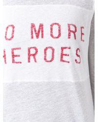 Zoe Karssen - White 'no More' Print T-shirt - Lyst