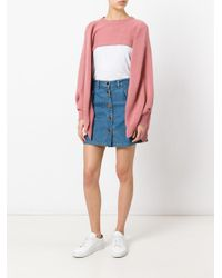 Valentino - Pink Flare-sleeve Cropped Sweater - Lyst