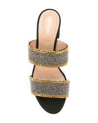 Alberta Ferretti - Metallic Studded Straps Sandals - Lyst