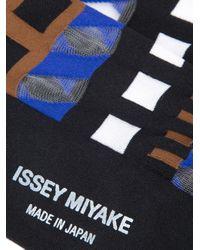 Issey Miyake | Black Printed Socks | Lyst