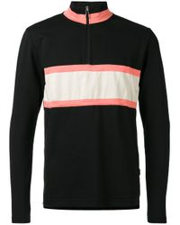 PS by Paul Smith | Black Panel Zip Placket Top for Men | Lyst