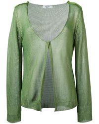 Blugirl Blumarine | Green Knitted Cardigan | Lyst