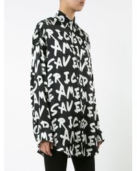 R13 - Black God Save America Blouse - Lyst