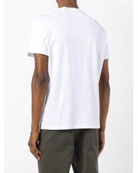 Ferragamo - White Chest-print T-shirt for Men - Lyst