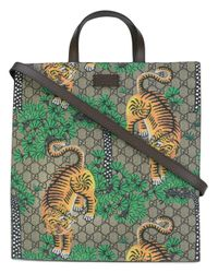 Gucci | Brown Bengal Gg Supreme Tote | Lyst