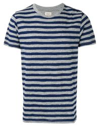 Bellerose | Blue - Striped T-shirt - Men - Cotton - M for Men | Lyst