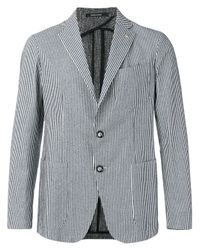 Tagliatore | Blue Sahara Striped Blazer for Men | Lyst