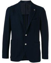Tagliatore | Blue Two Button Blazer for Men | Lyst