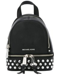 MICHAEL Michael Kors | Black Extra Small Rhea Studded Backpack | Lyst
