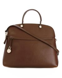 Furla | Brown Piper Tote Bag | Lyst