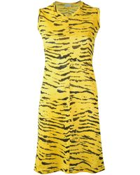 Aries | Yellow - Tiger Print Dress - Women - Polyester - 1 | Lyst