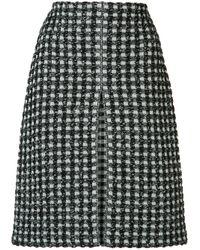 Sonia Rykiel | Black Houndstooth Pattern Skirt | Lyst