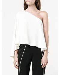 Roland Mouret - White Hurley One-shoulder Blouse - Lyst