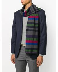 PS by Paul Smith - Multicolor Striped Pattern Scarf for Men - Lyst