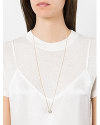 Noor Fares - Metallic Hollow Icosagon Pendant Necklace - Lyst