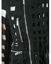 Comme Des Garçons Noir Kei Ninomiya - Black Cut-out Biker Jacket - Lyst