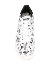 MOA - White Printed Sneakers for Men - Lyst